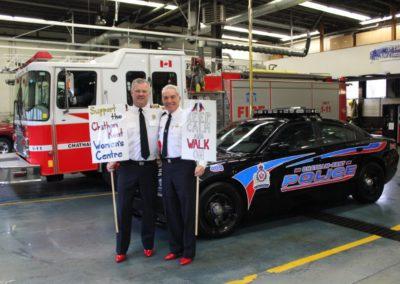 Ken Stuebing, CK Fire & Gary Conn, Police Chief
